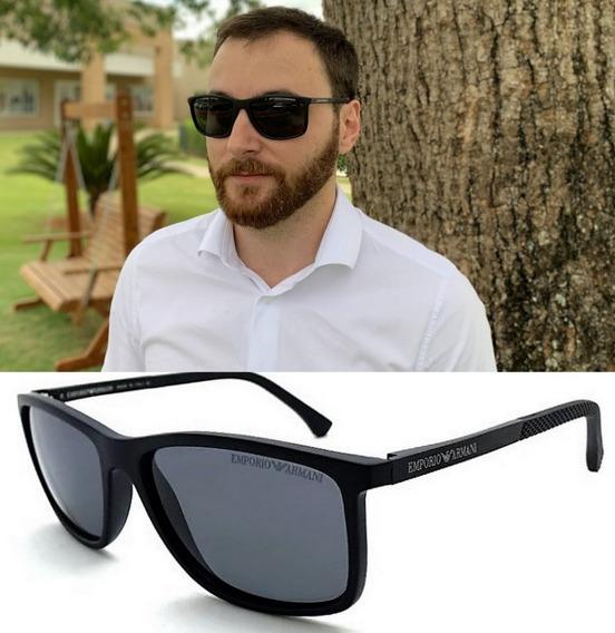 Oculos Solar Masculino Ea4058 Acetato Premium