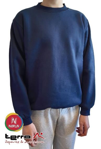 Buzo Colegial Narin Azul Con Friza Del Talle 6 Al 16