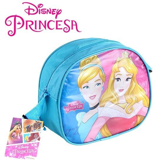 Bolsa De Vinil Infantil Oval Princesas 19x16,5cm- Linda