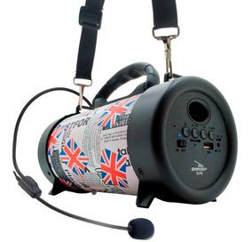 Caixinha Som Canhão Portatil Usb Mp3 Mic Micro Sd Rádio Fm