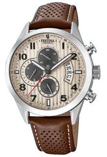 Reloj Festina Cronómetro Hombre Con Malla De Cuero F20271