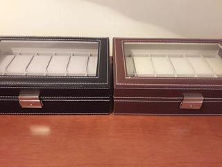 Estuche Caja Organizador Para Relojes 12 Ranuras.