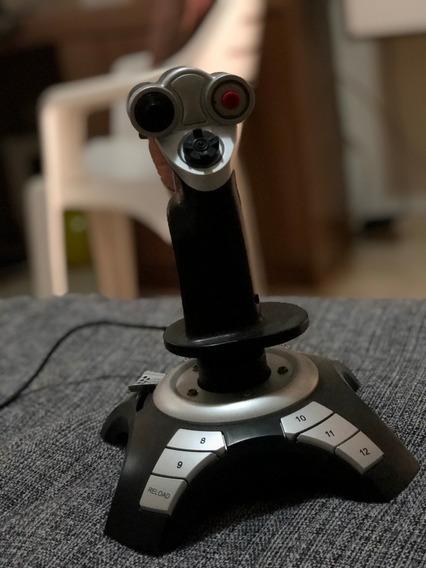Joystick Clone Usb 16019 Com 12 Botões E Sistema De Vibração