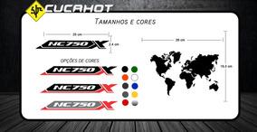 Adesivo Mapa Mundi Para Bauleto E Bau Honda Nc750x