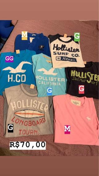 Camisetas Hollister E Abercrombie