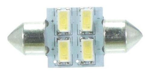 Imagem 1 de 2 de Lâmpada Led Torpedo 31mm 12v 4smd5630 Branca 4 Leds Par