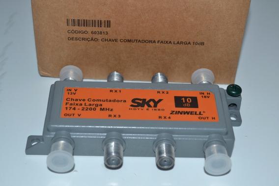 Chave Comutadora Faixa Larga 10db Zinwell 174-2200 Mhz