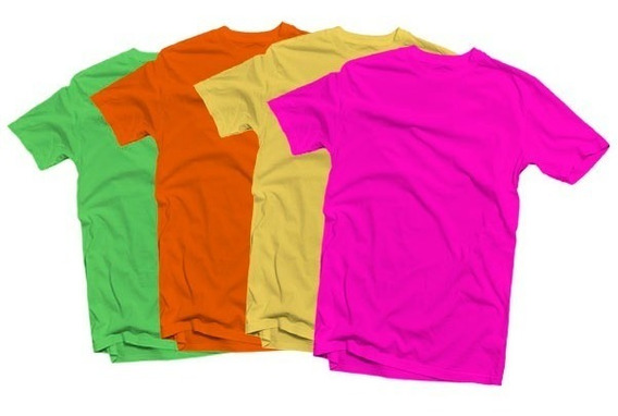 Playeras Neon Yazbek Originales Algodon 4 Colores Disp