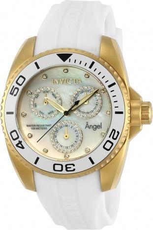 Relógio Invicta Feminino 21702 Angel Madreperola Original