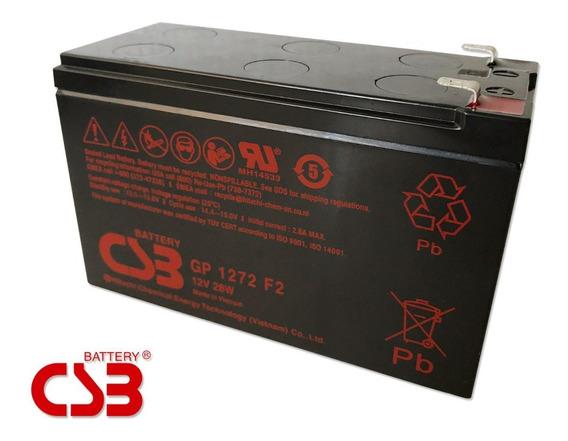 Bateria Csb Gp-1272 F2 12v 28w 7,2a Apc Sms Nhs 100% Novas