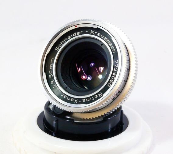 Lente Schneider Xenar 50mm F 2.8 Com Adaptador Canon Eos Ef