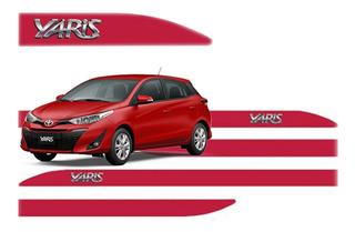 Jogo Friso Lateral Yaris Sedan E Hatch Cromada 2015 A 2020