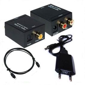 Conversor Audio Digital Toslink Tv Para Rca Analógico Stereo