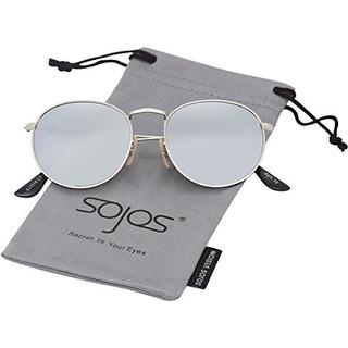 Sojos Sj1014 3447 Gafas De Sol Unisex Con Espejo Tamaño Pequ
