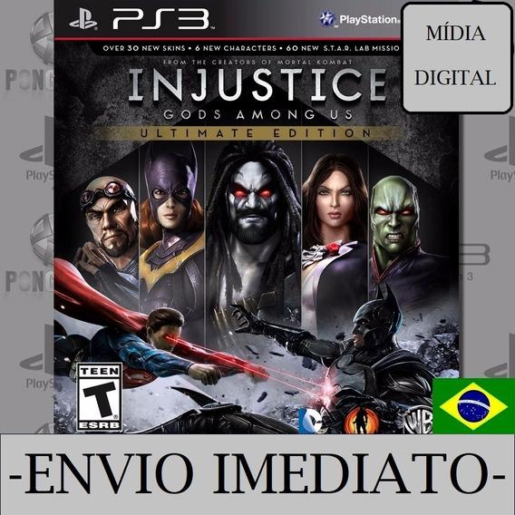 Injustice Ultimate Edition Ps3 Psn Mídia Digital Envio Agora