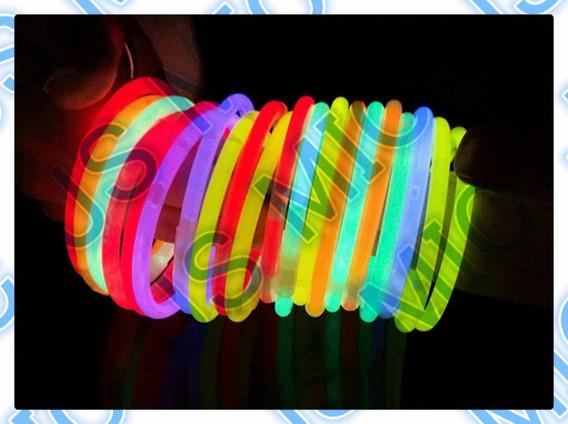 90 Pulseras Luminosa Cyalume Glow Fiesta Neon Fluorescente