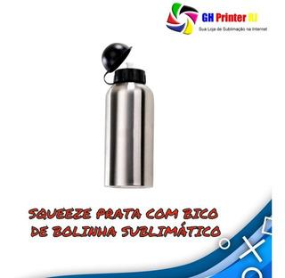 Squeeze De Bolinha P/ Sublimação Prata De 500ml 20 Unidades