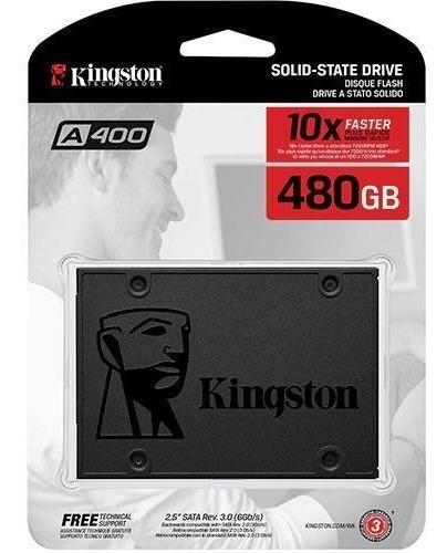Hd Ssd 480gb Kingston A400 2,5 Sata 3 Novo Lacrado