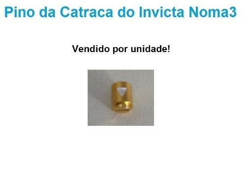 Pinos Da Catraca Noma 3 Dourado, Valor Unitario