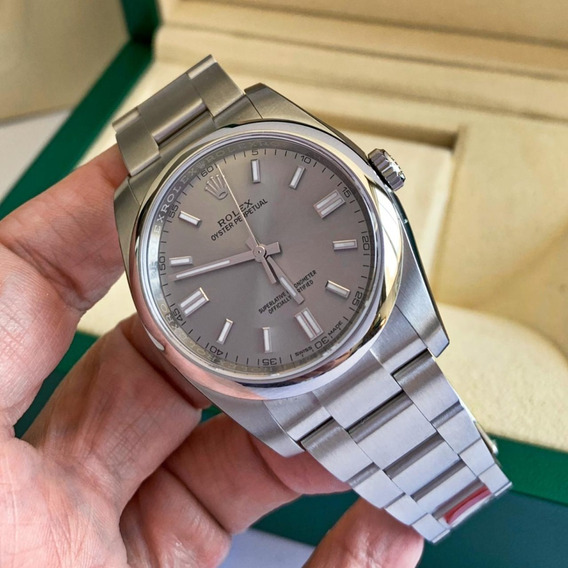 Rolex Oyster Perpetual 36 Silver 2019 Completo