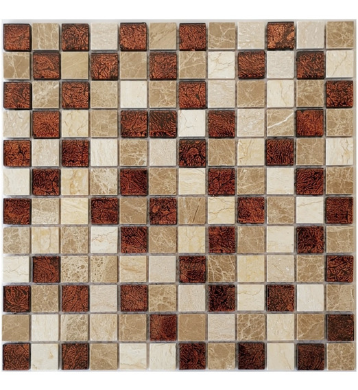 3 X Malla Mosaico Decorativa Cenefa En Vidrio Italia Beige