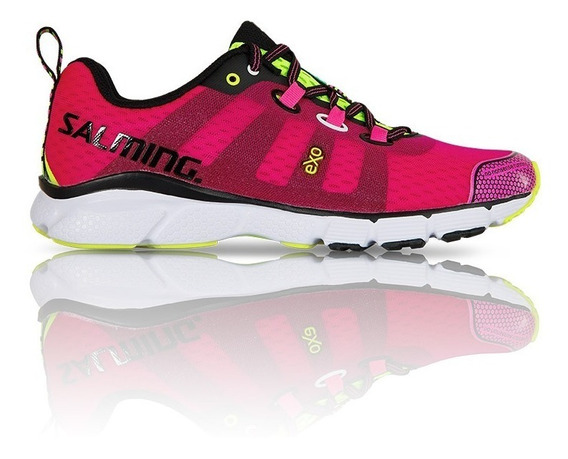 Zapatilla Trail Running Mujer Salming Enroute Rosa Deportiva