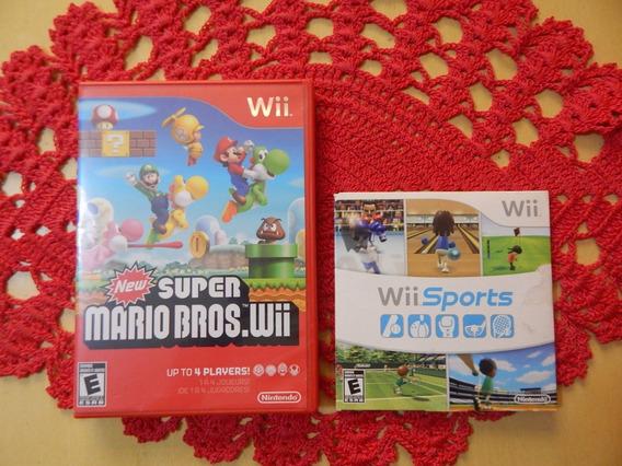 New Super Mario Bros Wii + Wii Sports Wii Wiiu