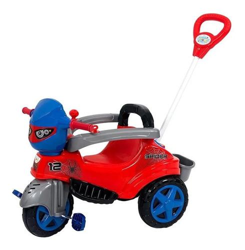 Imagem 1 de 5 de Carrinho Passeio Pedal Empurrador Triciclo Baby City Spider