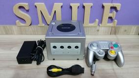 Nintendo Game Cube Prata Completo Funcionando 100%