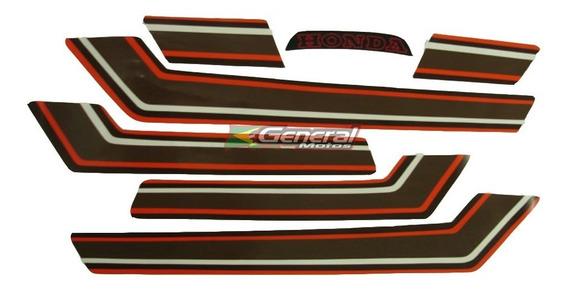 Kit Adesivo Jogo Faixas Moto Honda Cb 400 1980/81 Cereja
