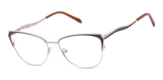 Armação Oculos Ogrife Og 767-c Feminino Com Lente Sem Grau