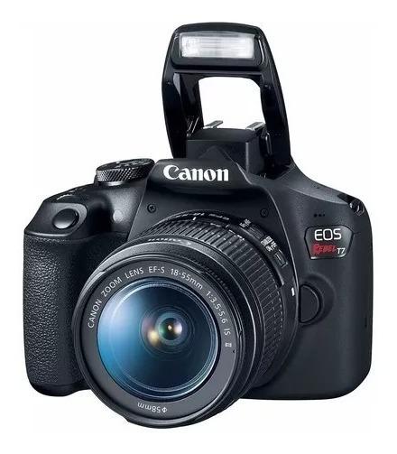 Câmera Canon Rebel T7 Lente 18-55mm
