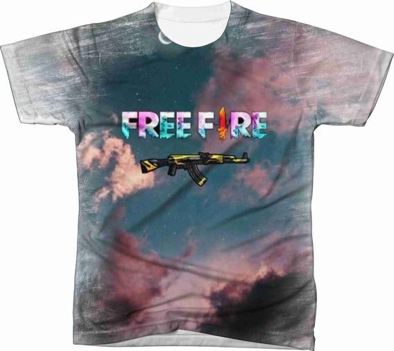 Camiseta Camisa Personalizada Free Fire Jogo Game Ref 12