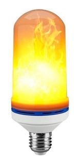 Lampara Led Fire Efecto Fuego Llama A60 7w Deco Luz