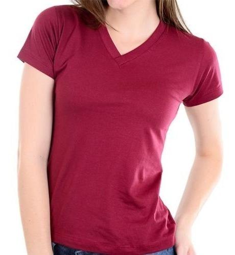 Kit 5 T-shirt Plus Size Blusinha Lisa Camiseta Feminina