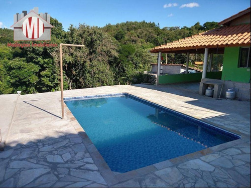 Linda Chácara Com 03 Dormitórios, Piscina, Linda Vista, À Venda, 550 M² Por R$ 200.000 - Zona Rural - Pinhalzinho/sp - Ch0455