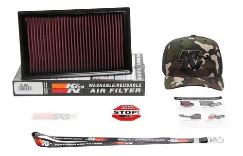 Filtro Ar Kn Golf Gti Mk7 220cv A3 2.0 33-3005 Brinde Bone