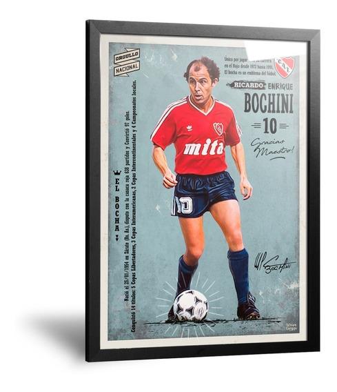 Cuadros Camiseta De Independiente Bochini Enmarcado 35x50cm