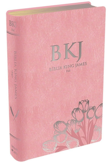 Bíblia Feminina Rosa King James Fiel Texto 1611 Mulher