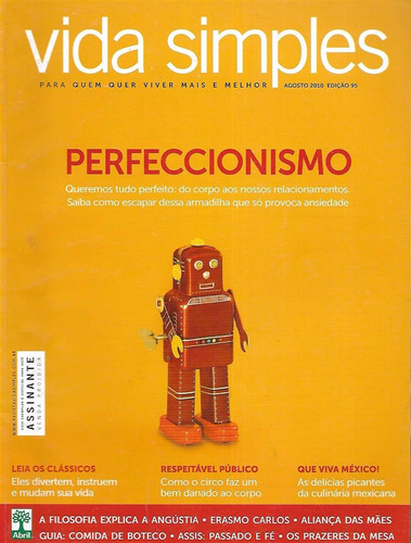 Imagem 1 de 1 de Revista Vida Simples Agosto De 2010 Perfeccionismo