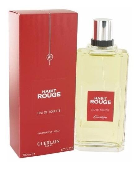 Perfume Habit Rouge 200ml Edt Guerlain Original Lacrado