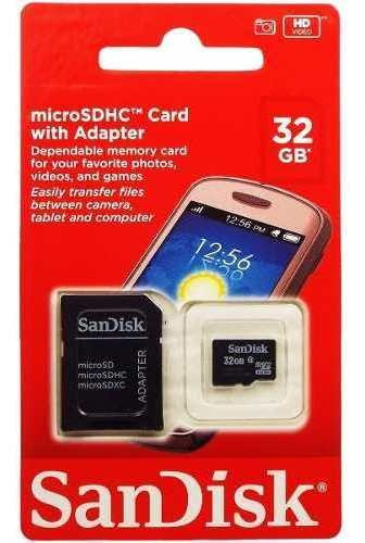Cartão Memoria Micro Sd 32gb Box Classe 4 Blister Scandisk