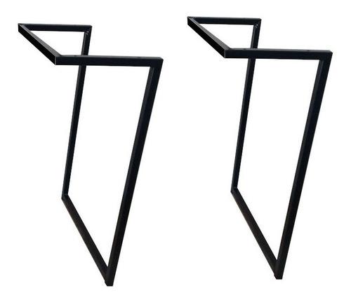 Pé Base Metal Aço Tubolar Escrivaninha Quadrado Retangular