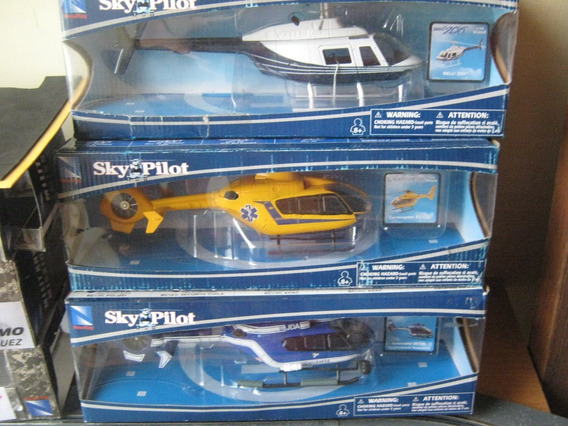 Helicopteros 2paqt. Varios Modelos, Marca New Ray, Die Cast