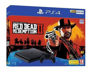 Ps4 Slim 500gb + Red Dead Redemption 2 Nuevo + Envio Gratis