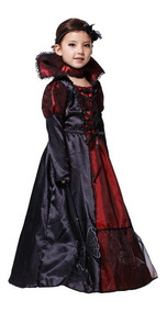 Fantasia Vampira Infantil Luxo Halloween