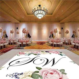 Pista De Dança Para Casamento Floral Rosas Ps28 - 5x5m