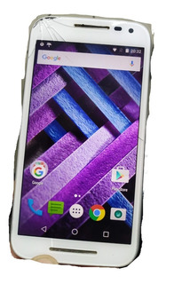 Celular Motorola G3 Turbo 16gb (tela Trincada, Pouco Solta)