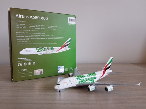 Gemini Jets 1:400 Emirates Airbus A380-800 Green Expo 2020