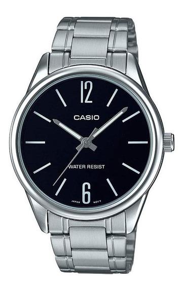 Relógio Casio Social Mtp V005 Aço Vidro Resistente A Riscos
